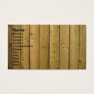 Designer Wood Wooden Fence Business Cards