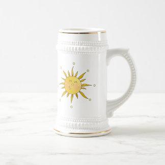 Designer Yellow Smiling Sun Sunshine Cute Art Mugs