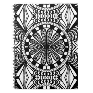 Designer zen doodle mandala art. A great gift! Spiral Notebook