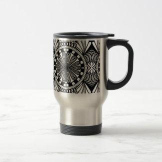 Designer zen doodle mandala art. A great gift! Stainless Steel Travel Mug