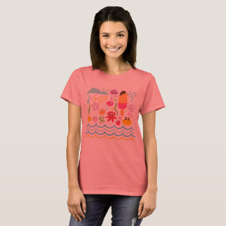 Designers authentic t-shirt with Sea creatures