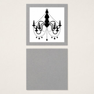 Designers black chandelier Visit card