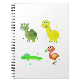 Designers cute Notebook with Africa animals