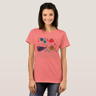 Designers girls t-shirt with Underwater creatures