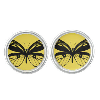 Designers girly cufflinks : Yellow