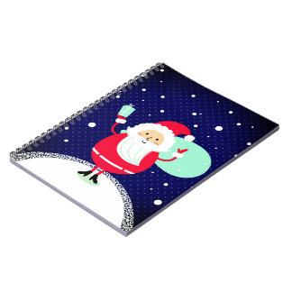 Designers Notebook with Santa drawing
