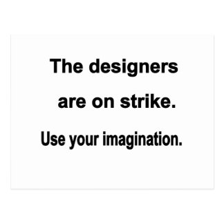 Designers On Strike Postcard