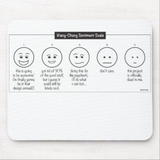 Designer's Pain/Sentiment Scale Mousepad