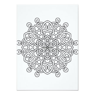 Designers paper card with Mandala art