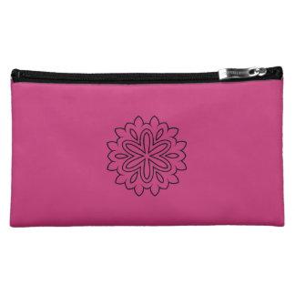 Designers pink bag with Mandala Cosmetics Bags