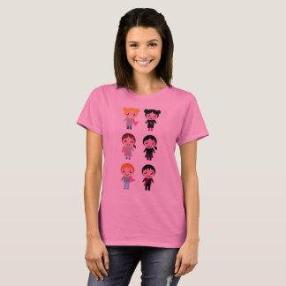Designers pink tshirt with Emo kids