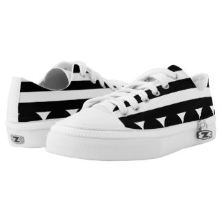Designers shoes : black white printed shoes
