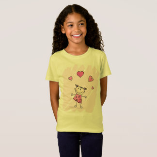 Designers spring kids Tshirt with Doodle girl