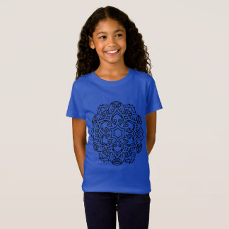 Designers t-shirt blue with Mandala