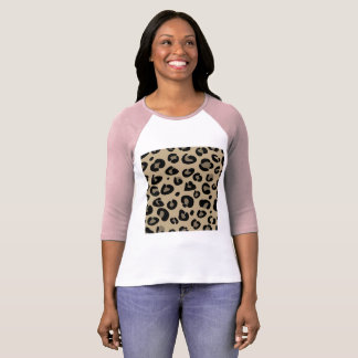 Designers t-shirt pink with Leopard pattern