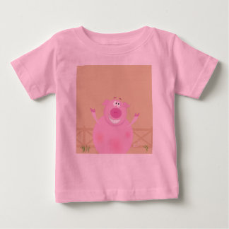 Designers t-shirt pink with Pig