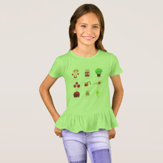 Designers t-shirt with Garden elements