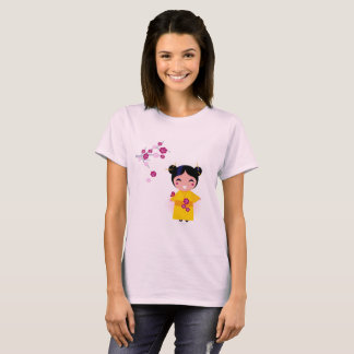 Designers t-shirt with Geisha Girl