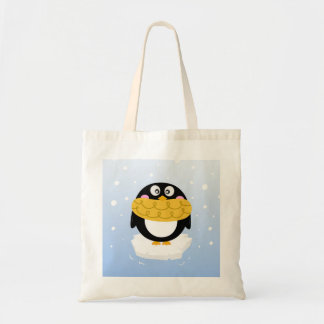 Designers tote bag with Black arctic Penguin