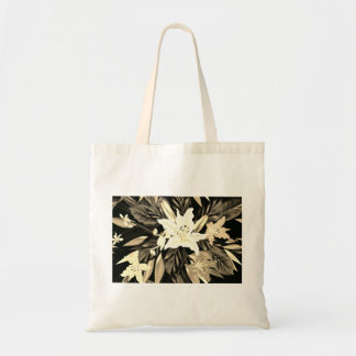 Designers tote bag with Folk flowers