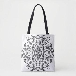 Designers tote bag with Mandala