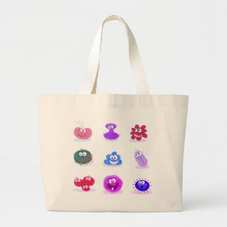 Designers tote bag with Worms