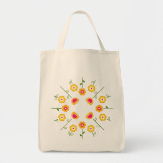 Designers tote bag with Yellow flowers