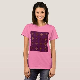 Designers tshirt Pink with Folk artwork