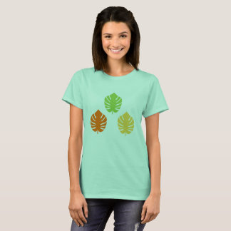 Designers tshirt with Leaves