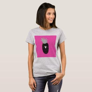 Designers tshirt with Luxury ananas Black