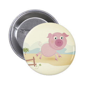Designers vintage button with Pig