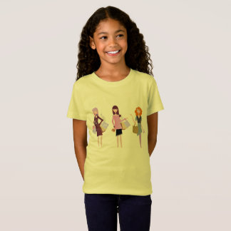 Designers yellow Kids t-shirt with Models