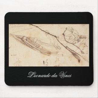 Designs for a Boat by Leonardo Da Vinci Mouse Mat