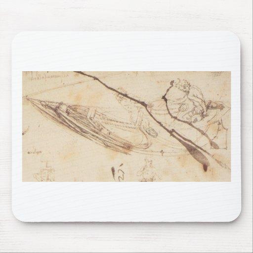 Designs for a Boat by Leonardo Da Vinci Mouse Pads