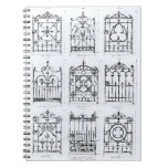 Designs for cast-iron railings, from 'Macfarlane's Notebooks