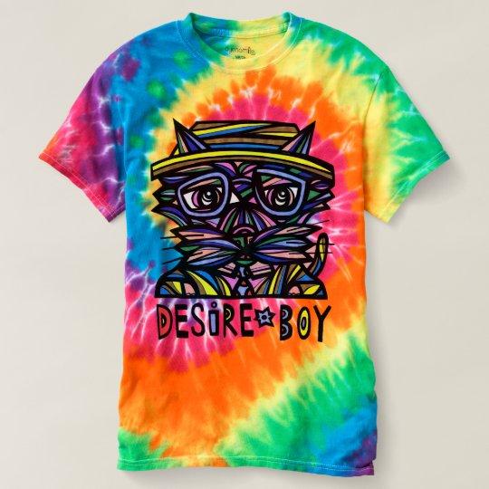 """Desire Boy"" Women's Spiral Tie-Dye T-Shirt"