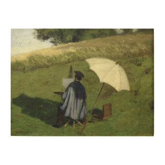 Desire Dubois Painting in the Open Air, c.1852 Wood Prints