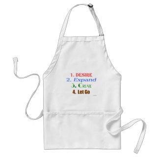 Desire, expand, create, let go standard apron