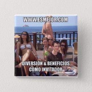 Desire like invitador 15 cm square badge
