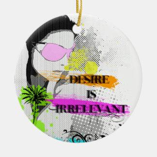 Desire Round Ceramic Decoration