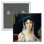 Desiree Clary  Queen of Sweden, 1807 15 Cm Square Badge
