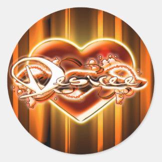 Desiree Round Sticker