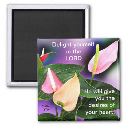 Desires of Your Heart Square Magnet