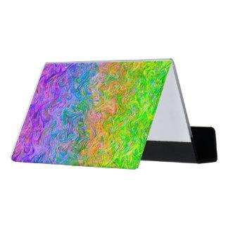 Desk Business Card Holder Fluid Colors