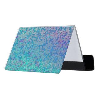 Desk Business Card Holder Glitter Star Dust