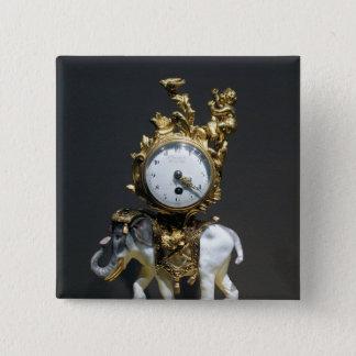 Desk clock 15 cm square badge