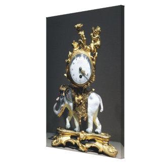 Desk clock gallery wrap canvas
