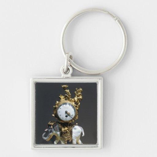 Desk clock keychain