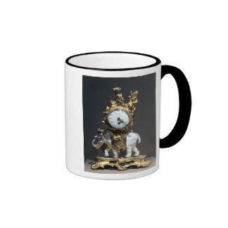 Desk clock ringer mug