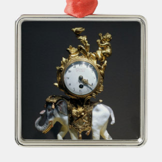 Desk clock Silver-Colored square decoration
